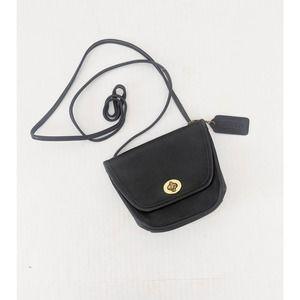 Vintage Coach Everett Black Leather Crossbody Bag